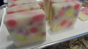 scented with strawberry, watermelon and coconut fragrance oils